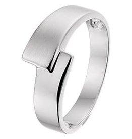 Zilveren ring - Mat/glanzend - Maat 18.5