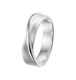 Zilveren ring - Mat/glanzend - Maat 17