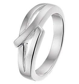 Zilveren ring - Mat/glanzend - Maat 16.5