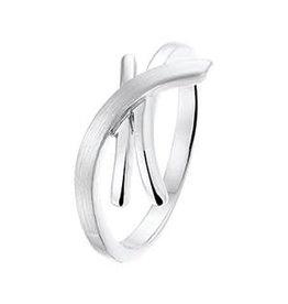 Zilveren ring - Mat/glanzend - Maat 17.5