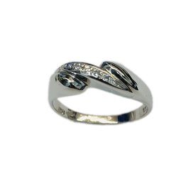 Occasions by Marleen Occasions by Marleen - Wit gouden ring - Briljant - Maat 17.5