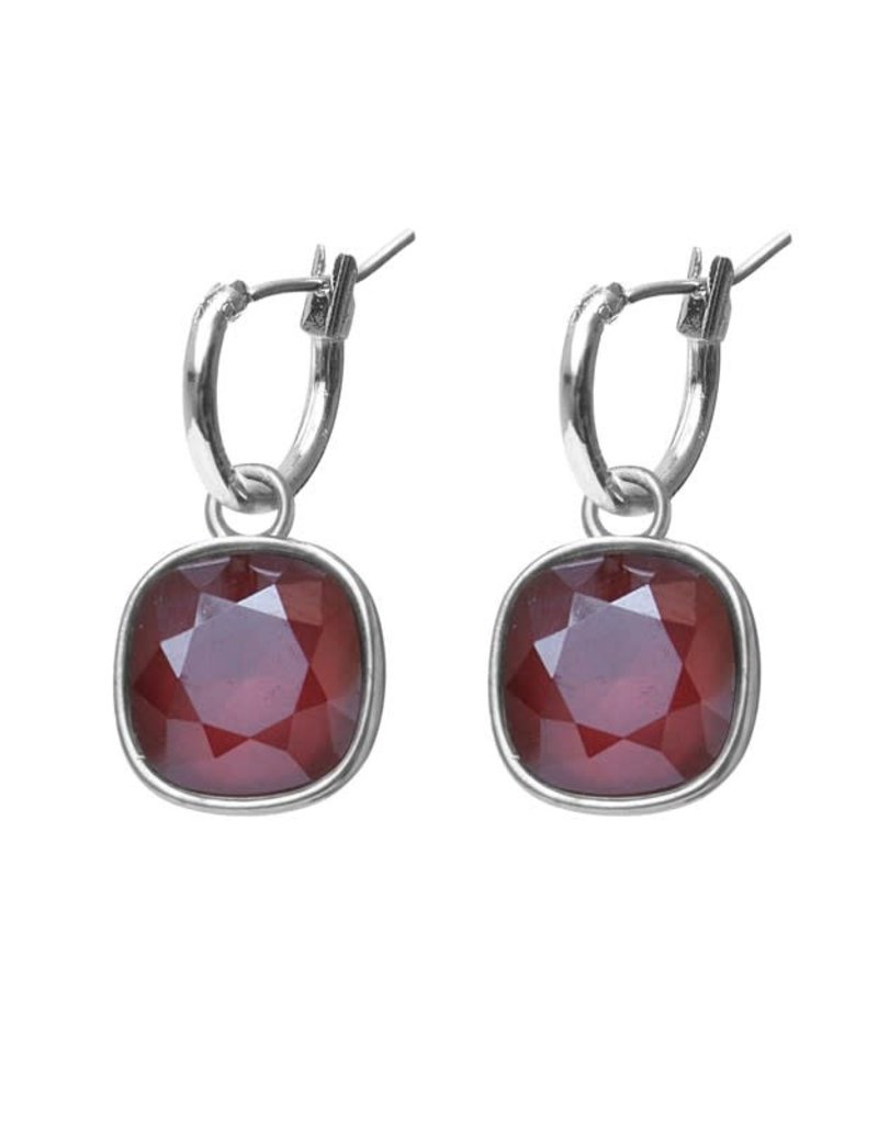 Biba Biba - Oorbellen - Crystal Royal Red