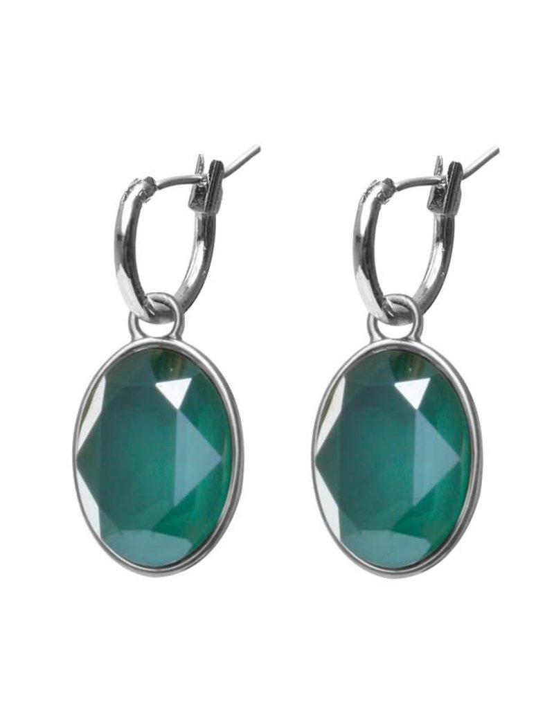 Biba Biba - Oorbellen - Crystal Royal Green