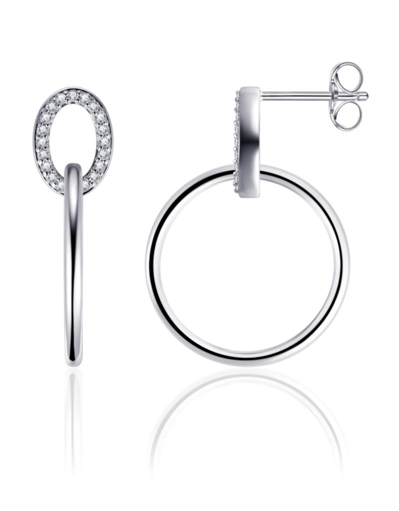 Gisser Zilveren oorknoppen - Gerhodineerd - Zirkonia