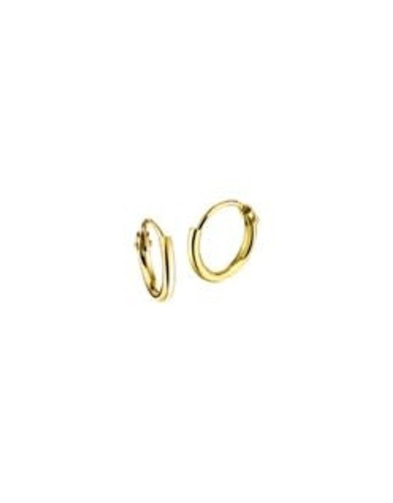 Gouden draadcreolen - 14 karaats - 9 mm