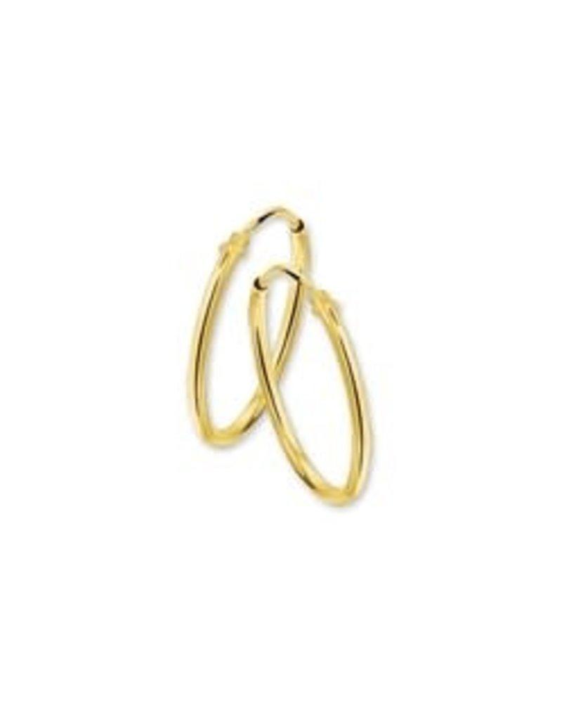 Gouden draadcreolen - 9 mm