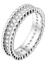 Kasius Zilveren ring - Zirkonia - Maat 17.25