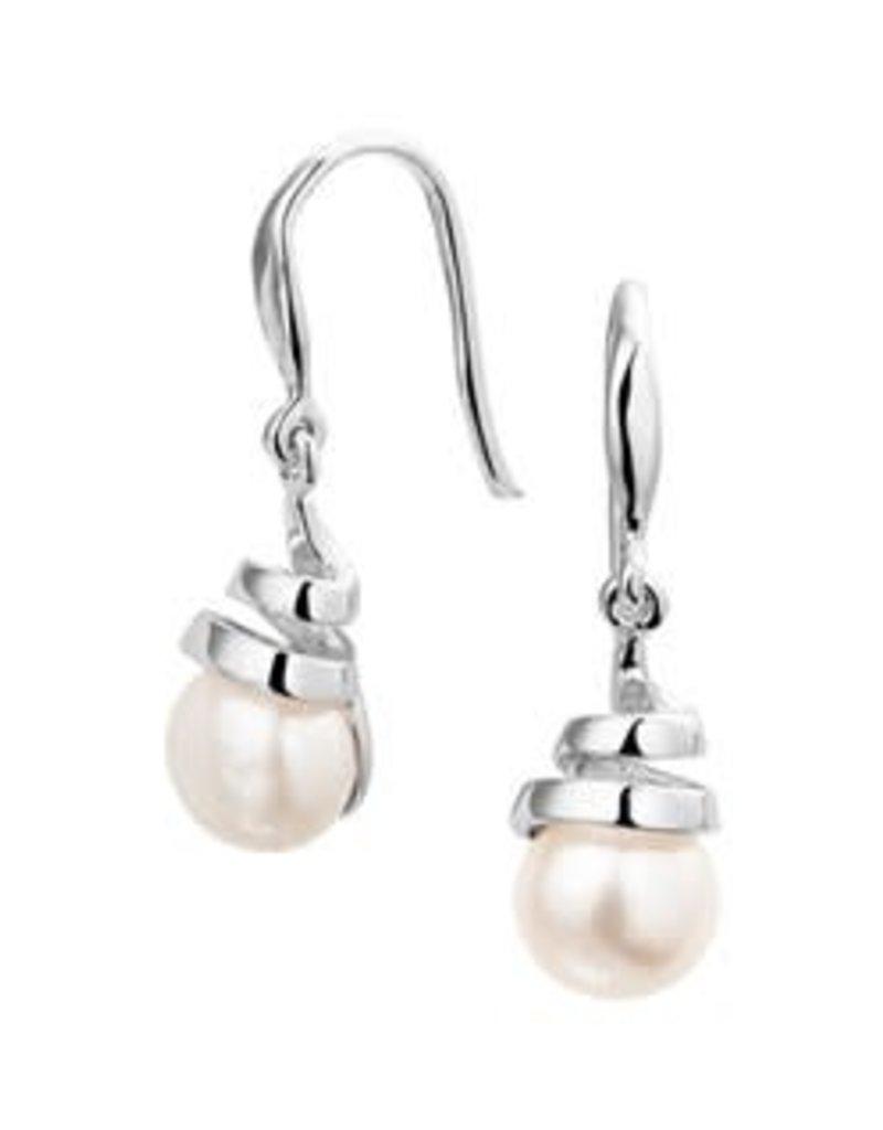 Zilveren oorhangers - Zoetwaterparel