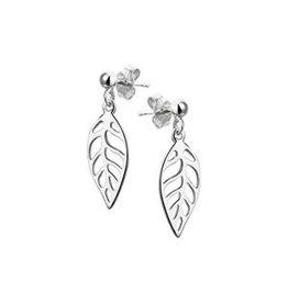 Zilveren oorhangers - Gerhodineerd - Veer