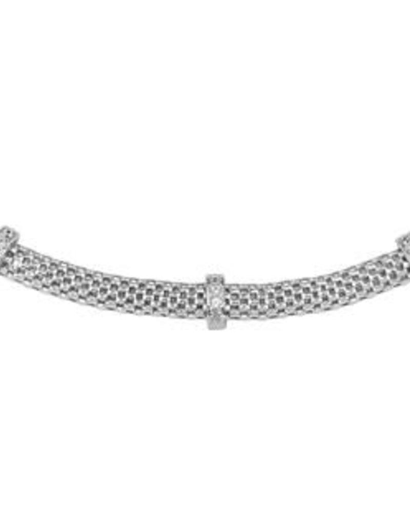 Zilveren collier - Zirkonia - 7 mm - 43 + 3 cm