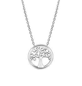 Zilveren collier - Levensboom - Gerhodineerd - 41-45 cm