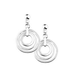 Zilveren oorhangers - Gerhodineerd