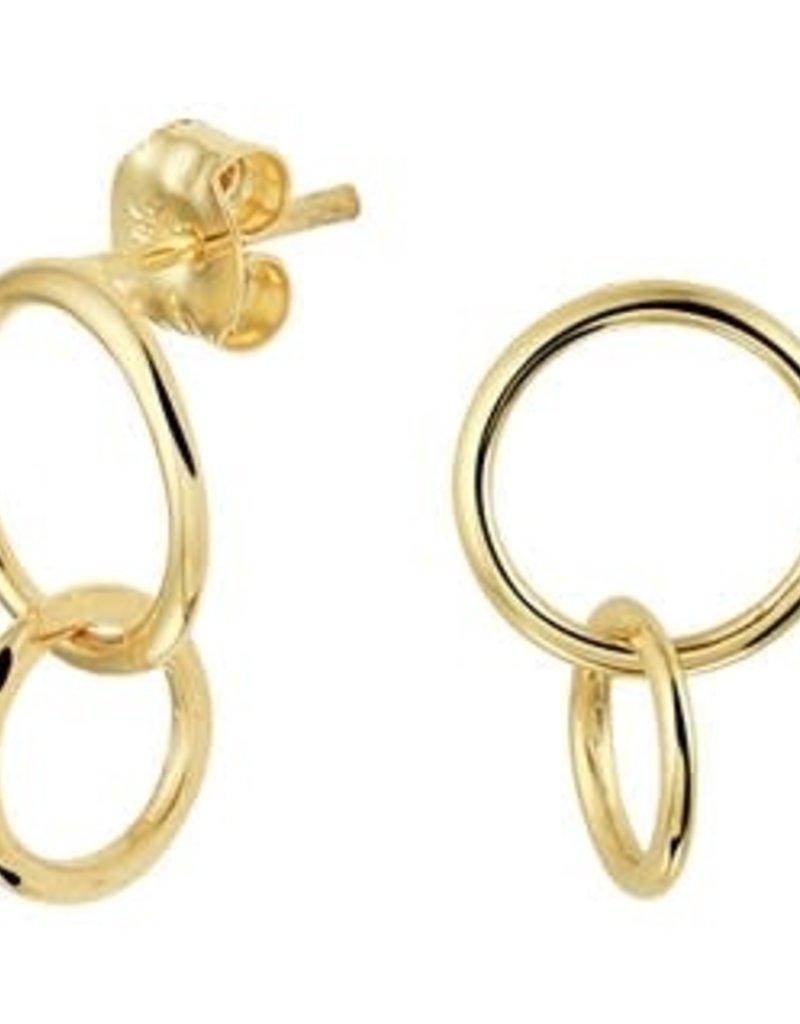 Gouden oorknoppen - 14 karaats - Ringetjes