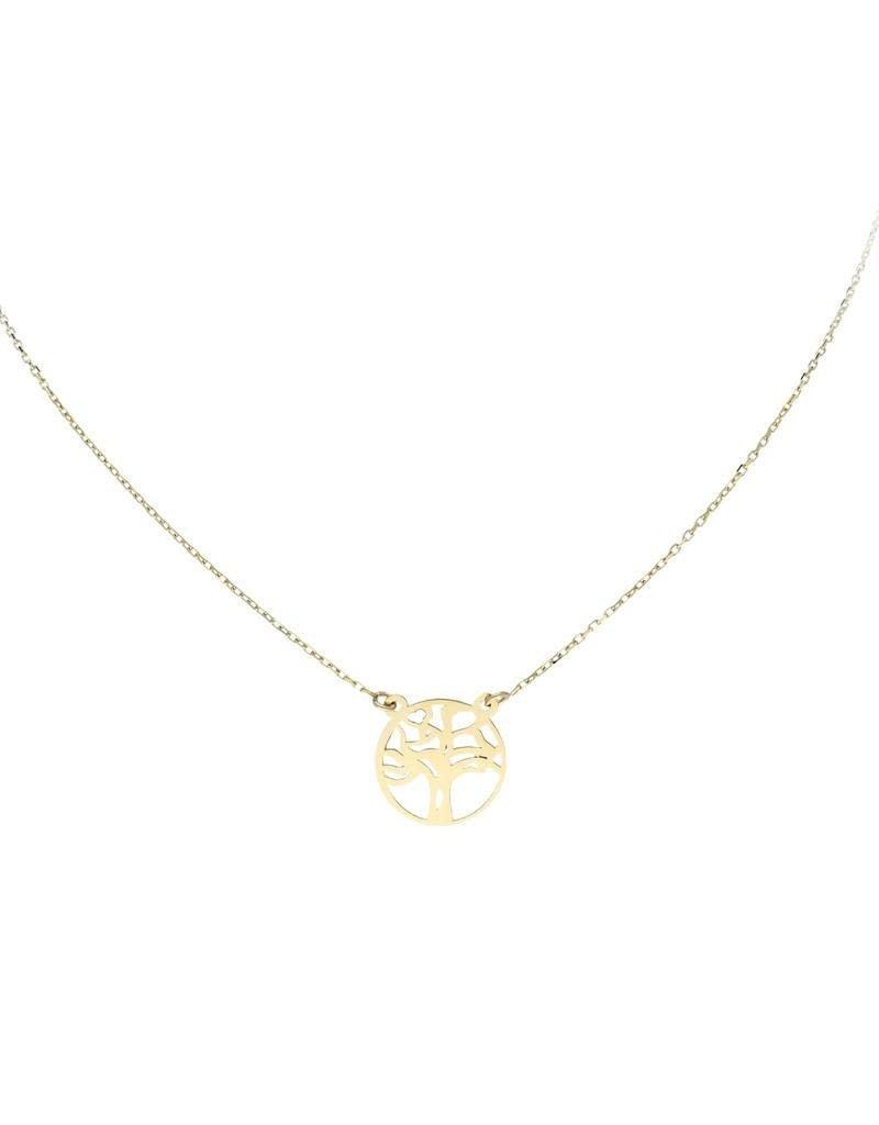 van Leeuwen Gouden collier - 14 karaats - Levensboom - 43 cm