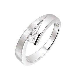 Zilveren ring - Gerhodineerd - Zirkonia - Maat 20