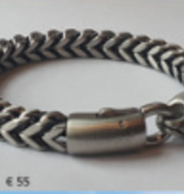 Thomss Thomss - Stalen schakelarmband - 21 cm - 8 mm