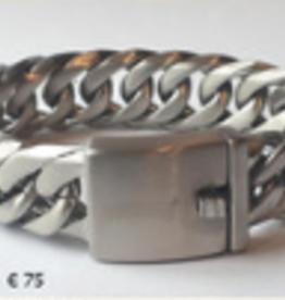Thomss Thomss - Stalen schakelarmband - 20 cm - 18 mm
