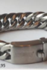Thomss Thomss - Stalen schakelarmband - 21 cm - 16 mm