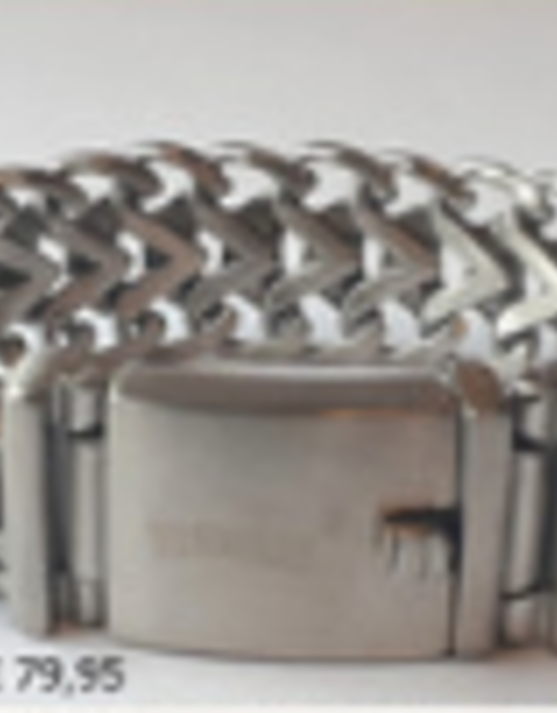 Thomss Thomss - Stalen schakelarmband - 20,5 cm - 19.5 mm
