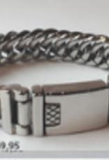 Thomss Thomss - Stalen schakelarmband - 21 cm - 15 mm