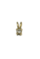 Gouden hanger - Chaton - 14 karaats - Briljant - 0.04 crt - W/Si