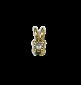 Gouden hanger - Chaton - Briljant - 0.04 crt - W/Si