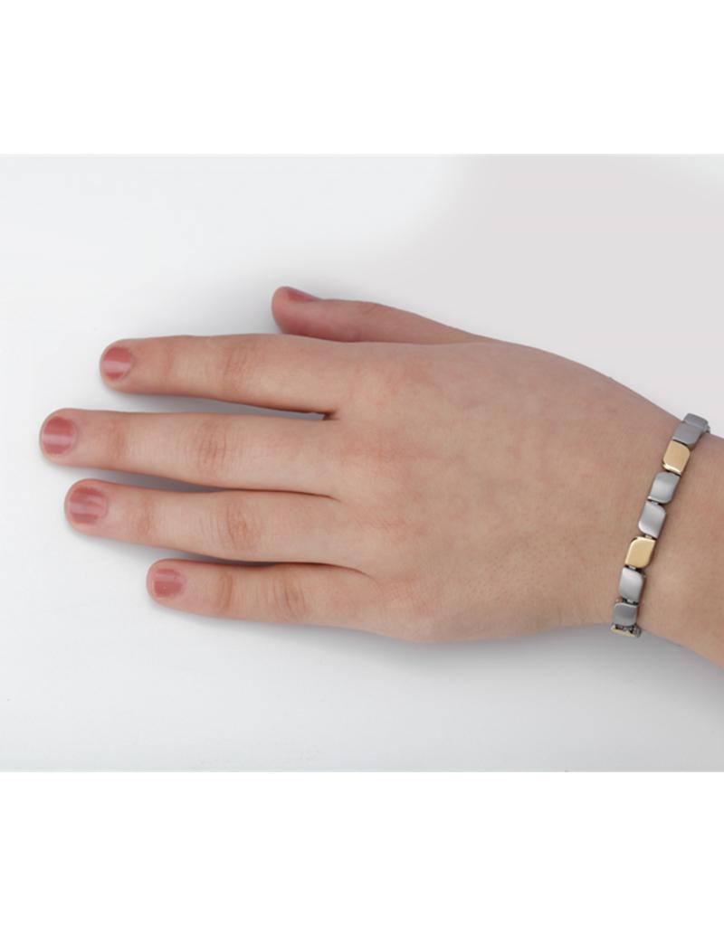 Boccia Boccia - Armband - Titanium bicolor - 20 cm