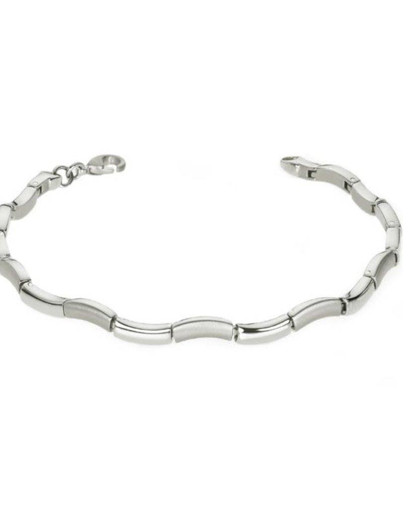 Boccia Boccia - Armband - Titanium - 21 cm