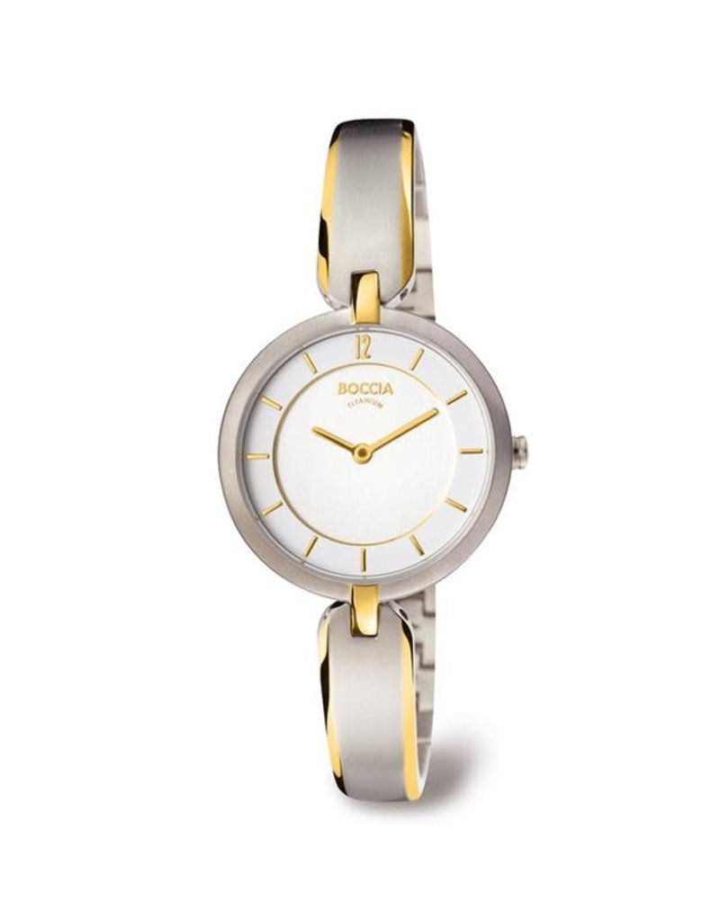 Boccia Boccia - Horloge - Dames - Titanium bicolor - Saffier - 30 mm - 5 ATM