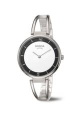 Boccia Boccia - Horloge - Dames - Titanium - Saffier - 34 mm - 5 ATM
