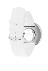 Picto Picto - Horloge - Wit - Staal - 40 mm -Siliconen