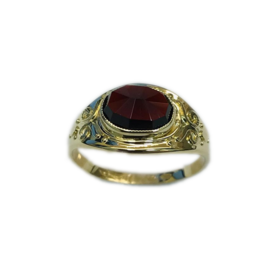 Occasions by Marleen Occasions by Marleen - Gouden ring - Granaat - Maat 17