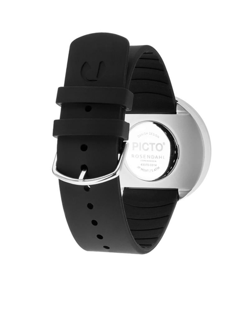 Picto Picto - Horloge - Zwart - Staal - 40 mm -Siliconen