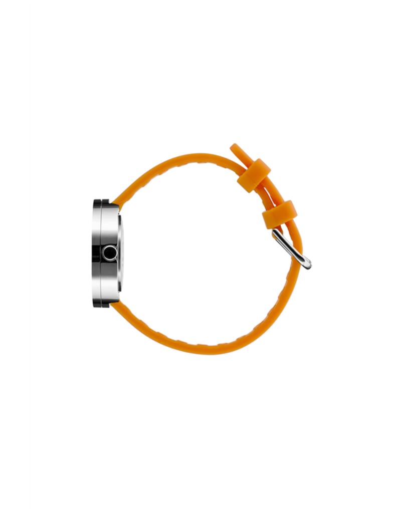 Picto Picto - Horloge - Grijs-Geel - Staal - 30 mm -Siliconen