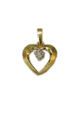 Occasions by Marleen Occasions by Marleen - Gouden hanger - Hart - Briljant - 0.02crt