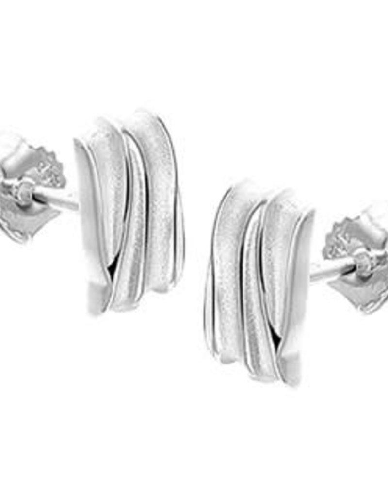 Zilveren oorknoppen - Mat/glanzend