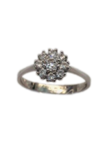 Occasions by Marleen Occasions by Marleen - Wit gouden entourage ring- Zirkonia - Maat 17.25