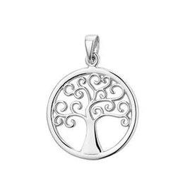Zilveren hanger - Levensboom