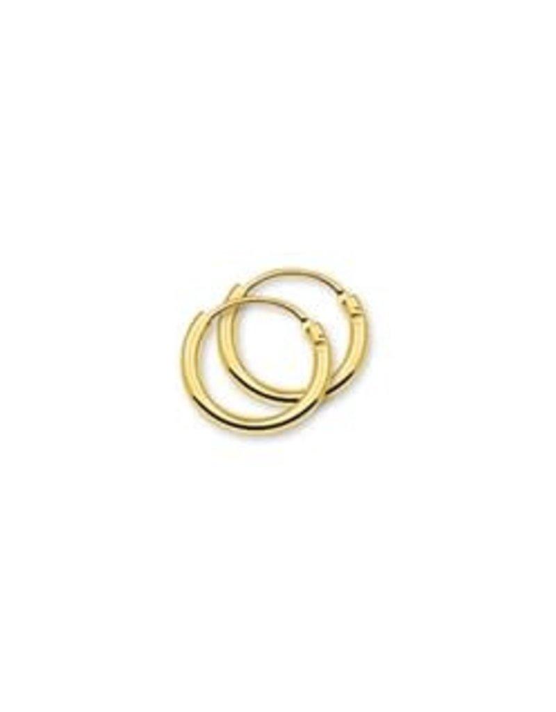 Gouden draadcreolen - 11 mm