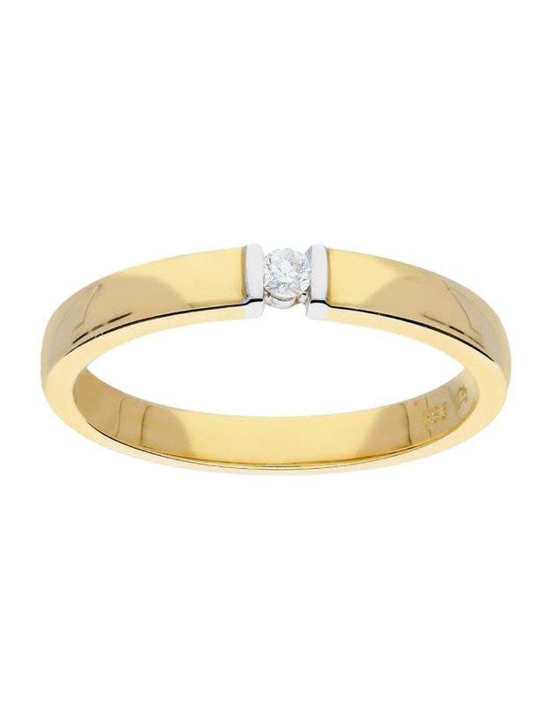 van Leeuwen Gouden ring - Diamant - 0.04 crt