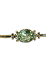 Occasions by Marleen Occasions by Marleen - Gouden brochette - Synthetisch Peridot