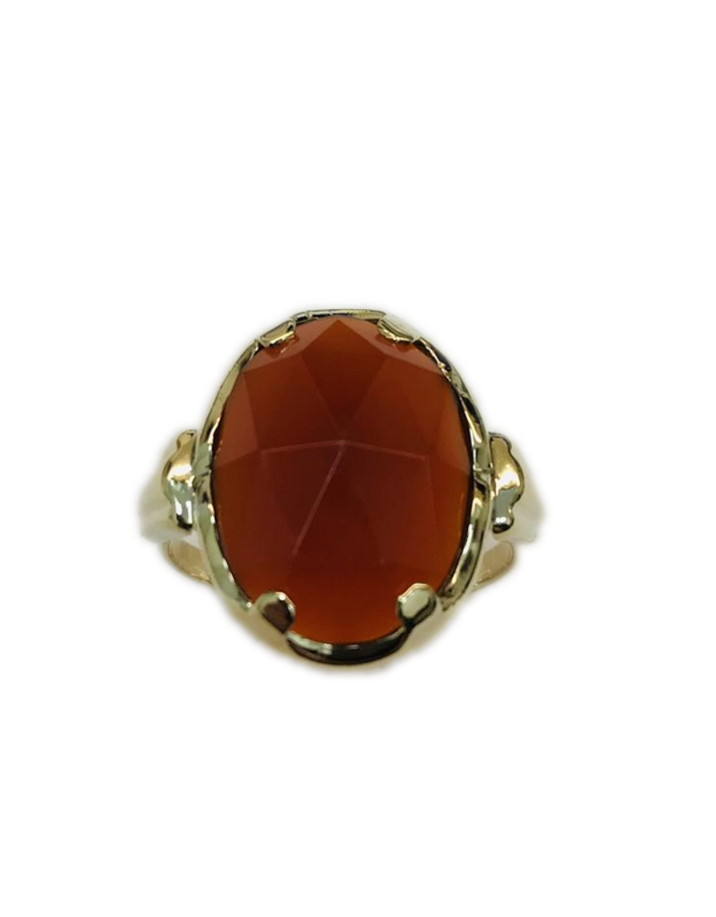 Occasions by Marleen Occasions by Marleen - 14 karaats - Gouden ring - Carneool - Maat 17.5