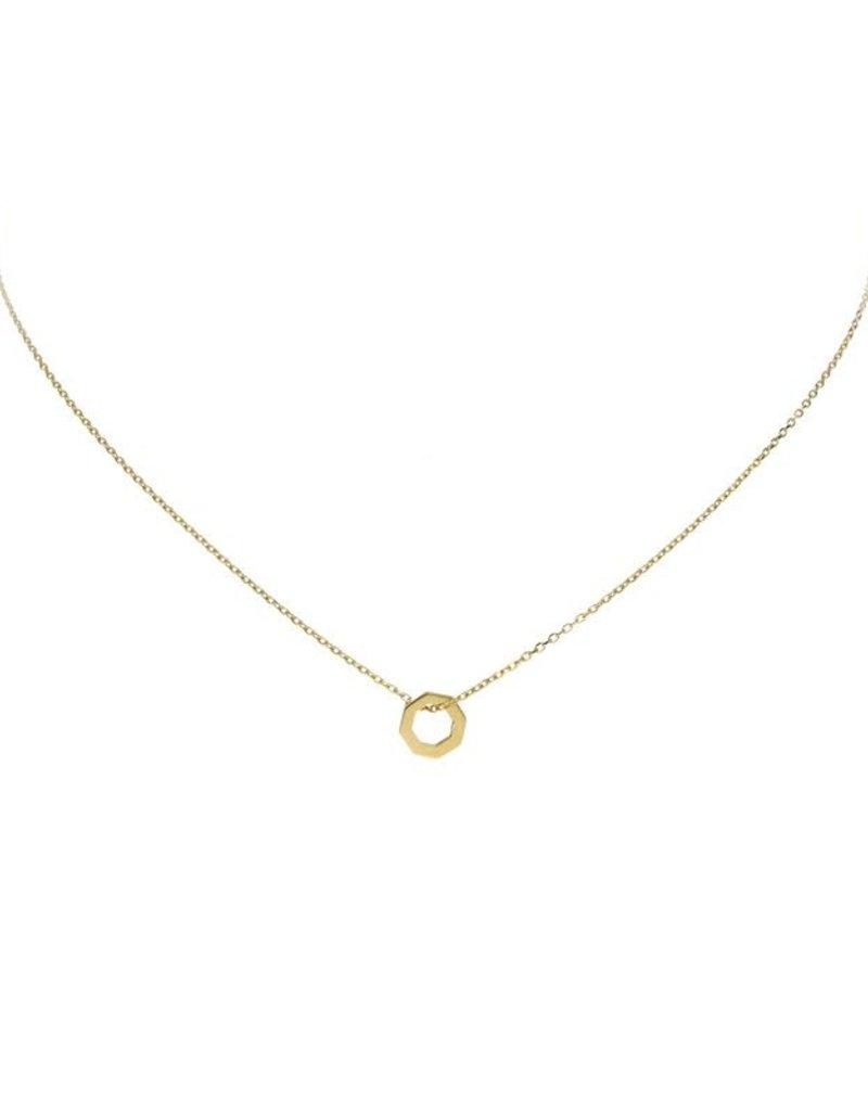 van Leeuwen Gouden collier - 6 hoek - 40 + 2 cm