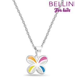 Bellini Bellini for kids - hanger incl. collier - 34 + 2 + 2 - Vlinder emaille