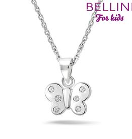 Bellini Bellini for kids - hanger incl. collier - 34 + 2 + 2 - Vlinder zirkonia