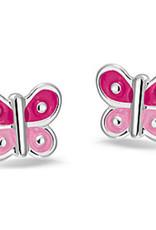 Bellini Bellini for kids - Oorknoppen - Vlinder emaille