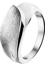 Zilveren ring - Gescratcht - Maat 19