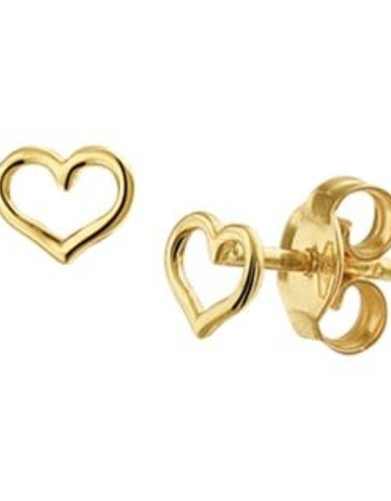 Gouden oorknoppen - Hartje