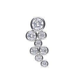Diamonfire Diamonfire - Zilveren collier met hanger - Zirkonia - 45 cm