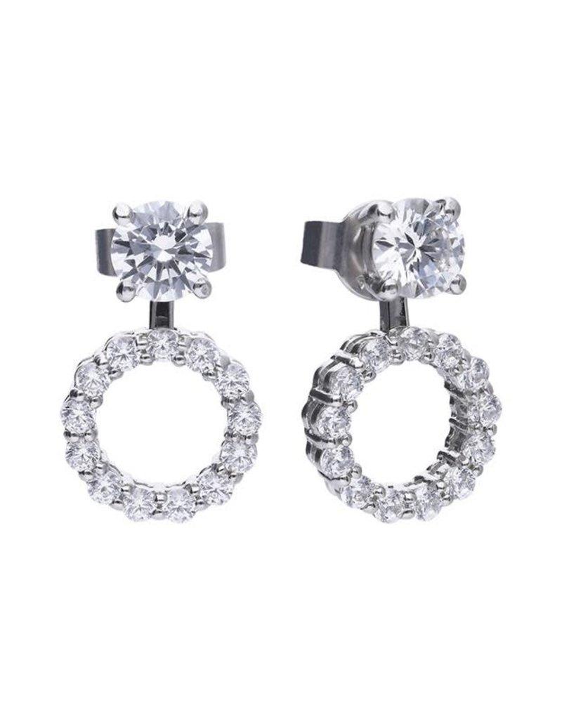 Diamonfire Diamonfire - Zilveren oorknoppen - Delicate Stone - Zirkonia
